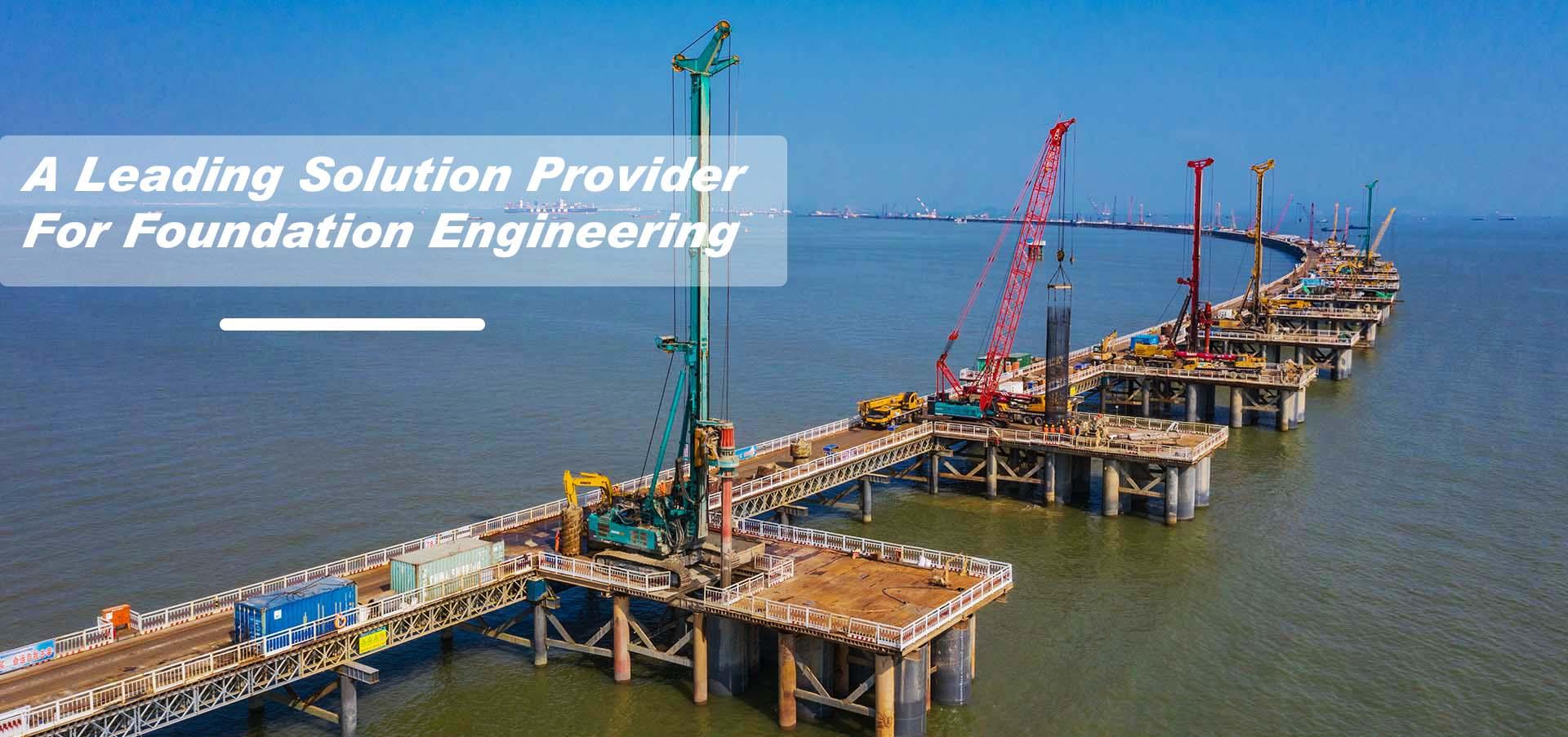 sea bridge piles drilling kelly bar